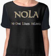 New Orleans NOLA No One Likes Atlanta Chiffon Top