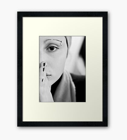 your bright half Framed Print