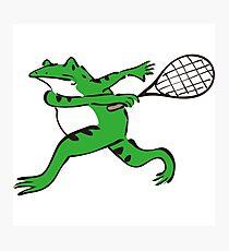 Frog Master - Tennis Photographic Print