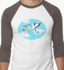 Where Do Baby Flamingos Come From? Men's Baseball ¾ T-Shirt