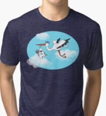 Where Do Baby Flamingos Come From? Tri-blend T-Shirt
