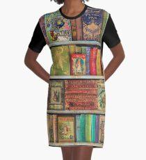 A Daydreamer's Book Shelf Graphic T-Shirt Dress