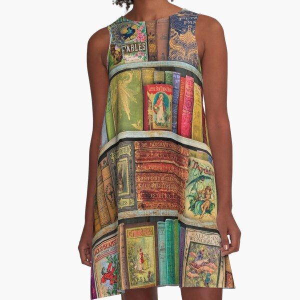 A Daydreamer's Book Shelf A-Line Dress