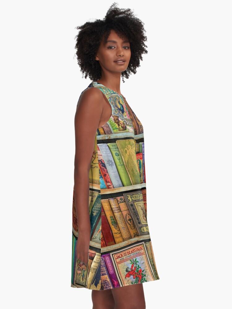 Alternate view of A Daydreamer's Book Shelf A-Line Dress