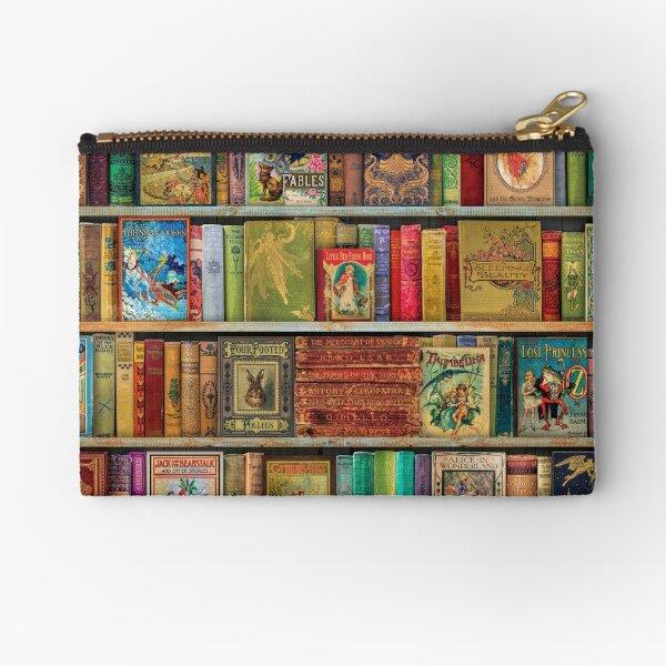 A Daydreamer's Book Shelf Zipper Pouch