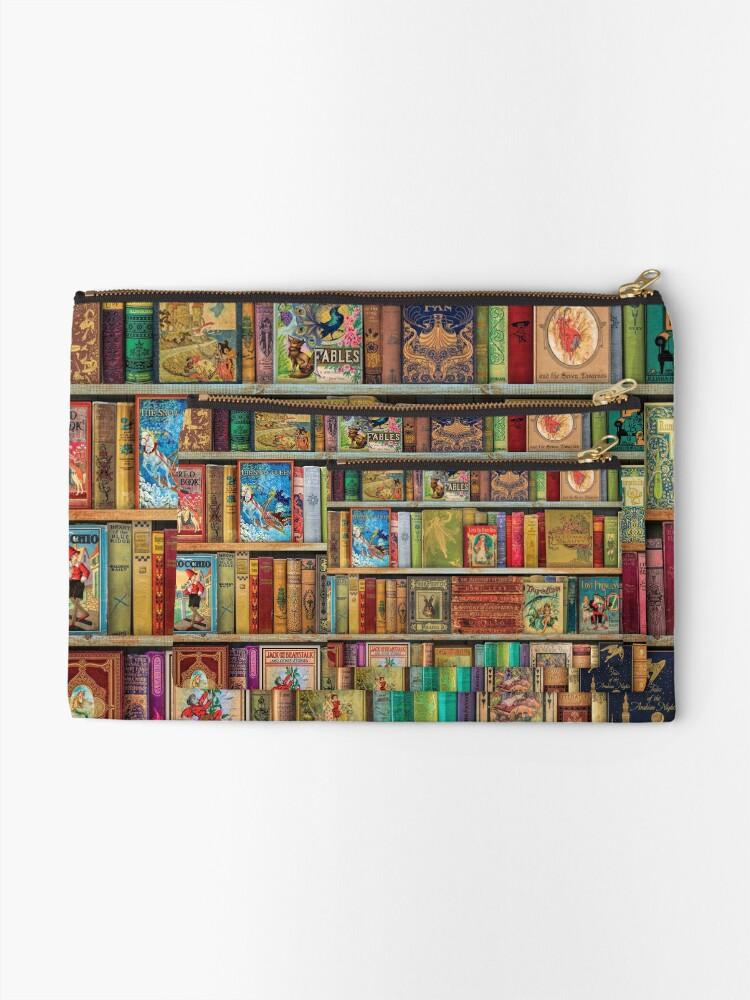 Alternate view of A Daydreamer's Book Shelf Zipper Pouch