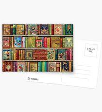 Das Bücherregal eines Daydreamer Postkarten