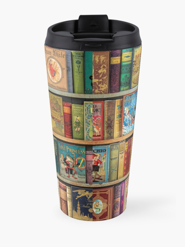 Alternate view of A Daydreamer's Book Shelf Travel Mug