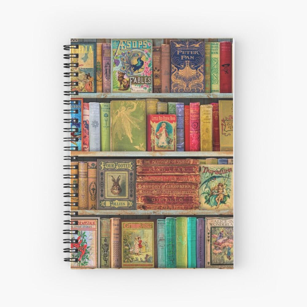 A Daydreamer's Book Shelf Spiral Notebook
