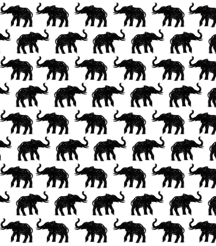 Elephants on Parade by inkedinred