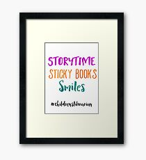 Storytime Sticky Books Smiles - Childrens Librarian Framed Print