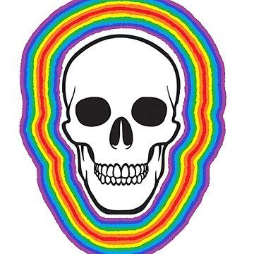 Digital Rainbow Aura Skull by chloemease