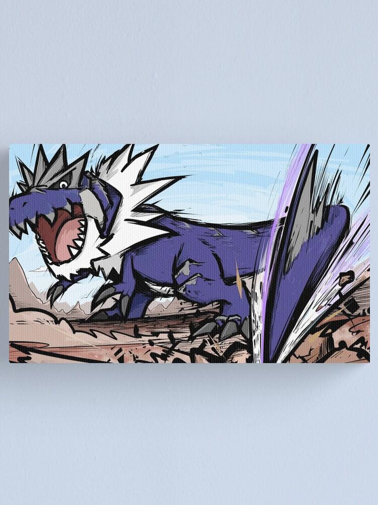 Shiny Tyrantrum Dragon Tail Canvas Print
