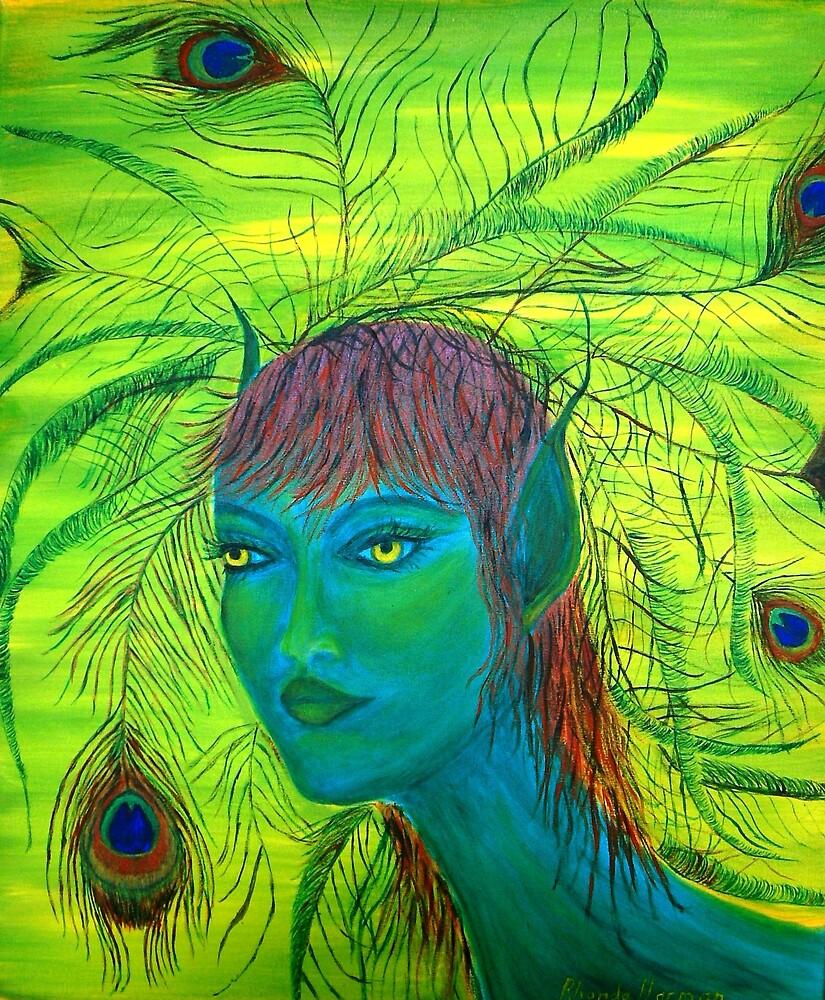 Peacock Beauty by Rhonda Harman