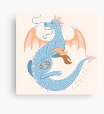 Cancer Dragon Canvas Print