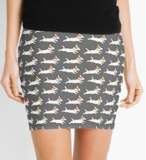 Cute Jack Russell Terrier Running Dog Mini Skirt