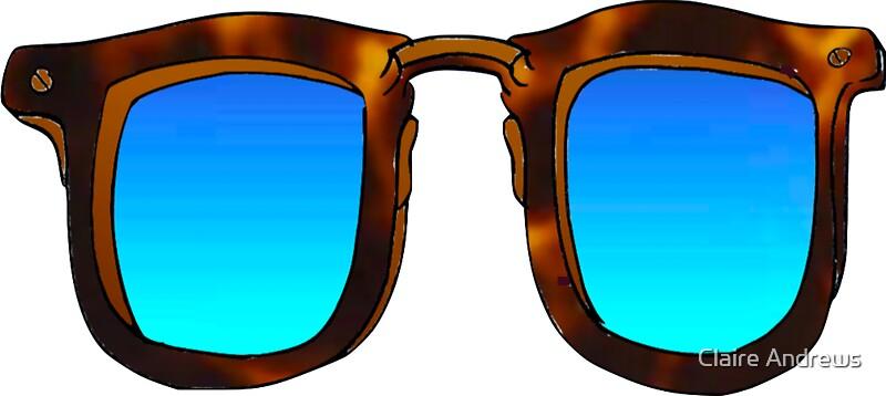hipster sonnenbrille mit blauen farbverlaufs shades. Black Bedroom Furniture Sets. Home Design Ideas
