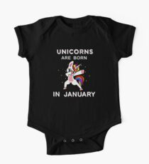 Unicorns Are Born In January Funny Dabbing Unicorn Graphic Tshirt   Kids Clothes