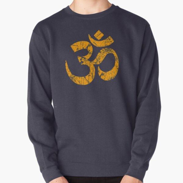 OM Yoga Spiritual Symbol in Distressed Style Pullover Sweatshirt