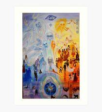 THE FAMILY OF DIVINITY - THE GODDESS ON EARTH Art Print