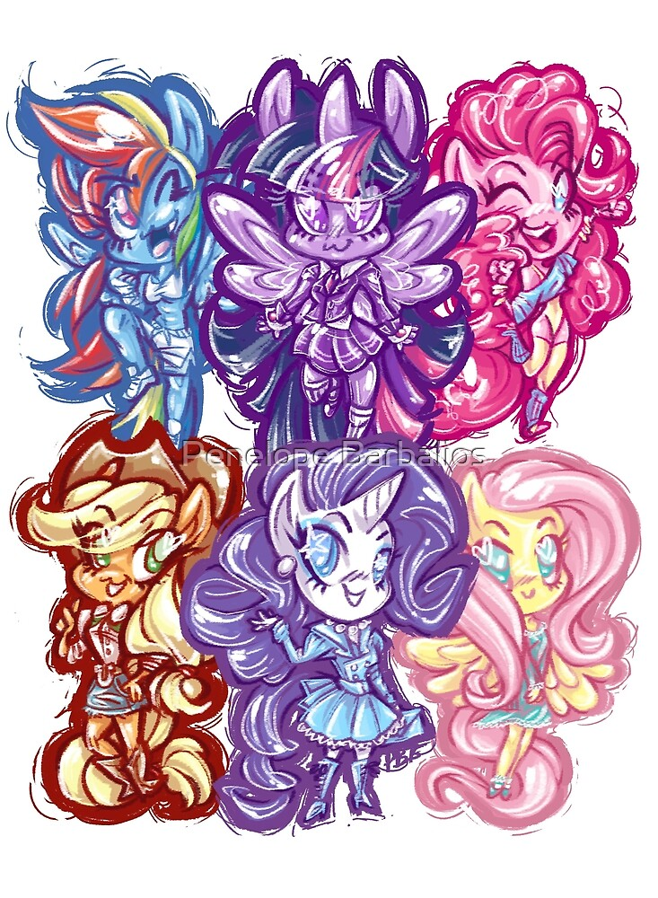 My Little Pony FiM Chibis by Penelope Barbalios