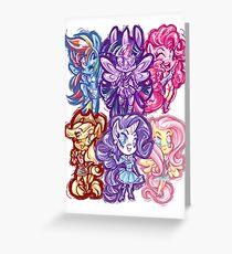 My Little Pony FiM Chibis Greeting Card