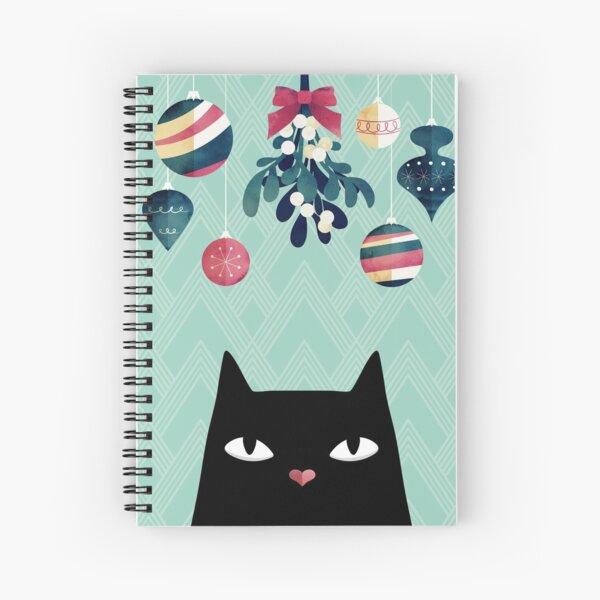 Mistletoe? (Black Cat) Spiral Notebook