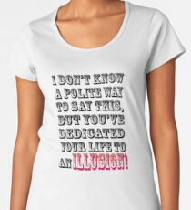 Life's DEDICATION~~~ Women's Premium T-Shirt