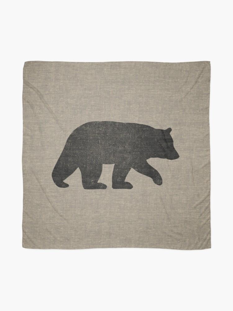 Alternative Ansicht von Schwarzbär Silhouette Tuch