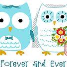 Owls Wedding Bride and Groom by Jenn Inashvili