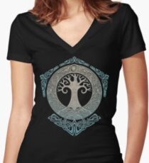 YGGDRASIL.TREE OF LIFE. Fitted V-Neck T-Shirt