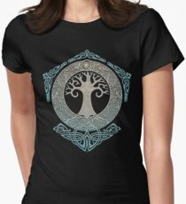YGGDRASIL.TREE OF LIFE. Women's Fitted T-Shirt