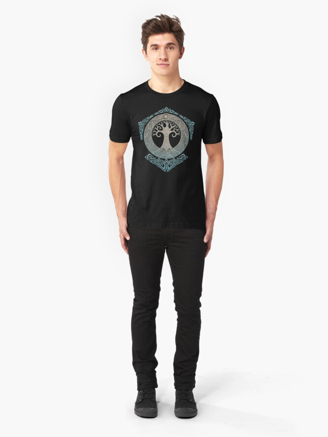 Alternative Ansicht von YGGDRASIL.TREE DES LEBENS. Slim Fit T-Shirt