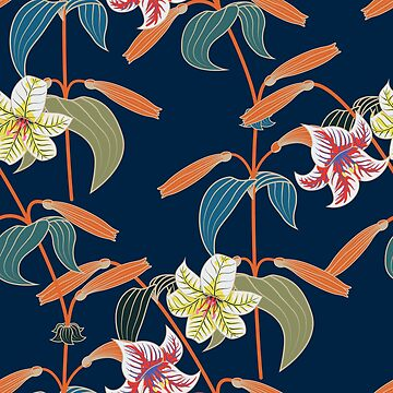 Lily seamless pattern by TpuPyku