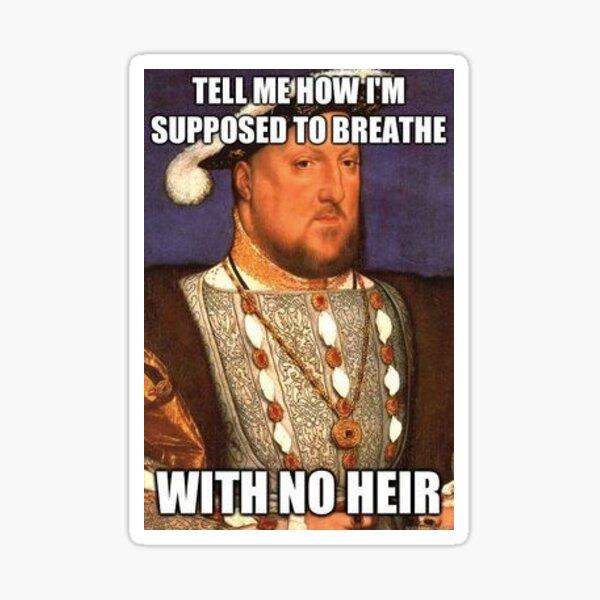 Rey Henry Meme Pegatina