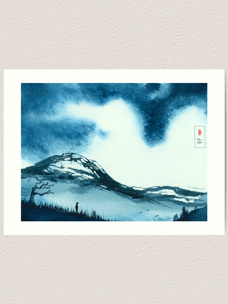 Alternate view of Blue Valley Art Print