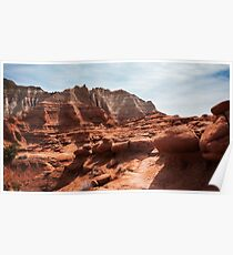 Unusual Rock Formations at Kodachrome Park, Utah Poster