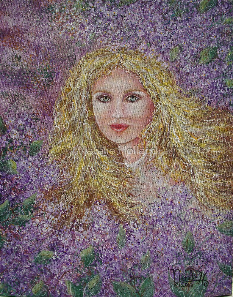 Natalie In Lilacs by Natalie Holland