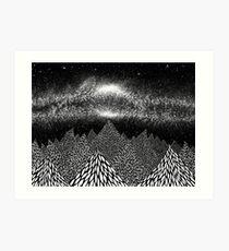 Milky Mountains 2 Art Print