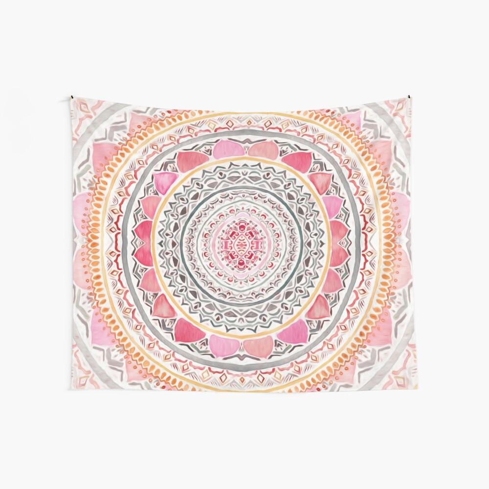 Pastel Bohemian Mandala Wall Tapestry