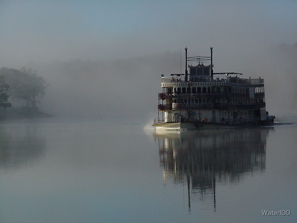 Murray River Riverboat by Waterl00