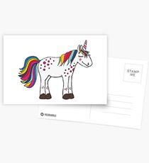 Lila-Lotta Einhorn / unicorn Postkarten
