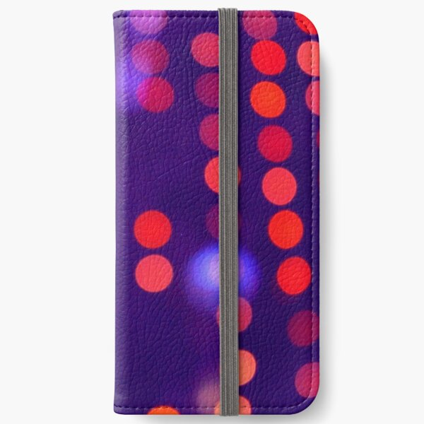 Blurred Purple and Orange Lights  iPhone Wallet