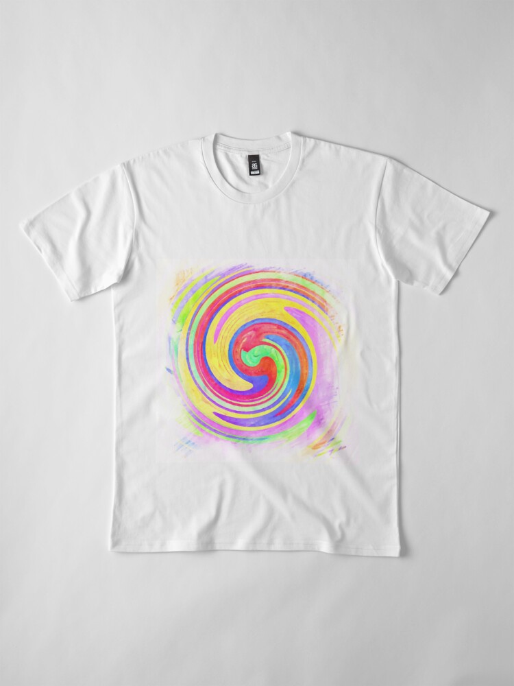 Alternate view of A white bowl filled with lots of colorful flowers Premium T-Shirt