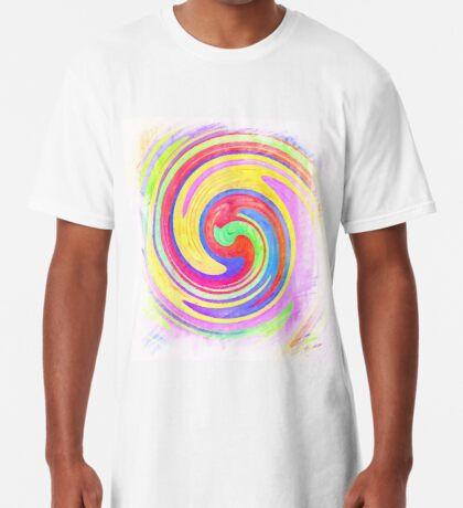 A white bowl filled with lots of colorful flowers Long T-Shirt