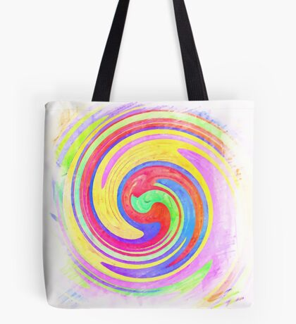 A white bowl filled with lots of colorful flowers Tote Bag