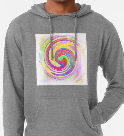 A white bowl filled with lots of colorful flowers Lightweight Hoodie