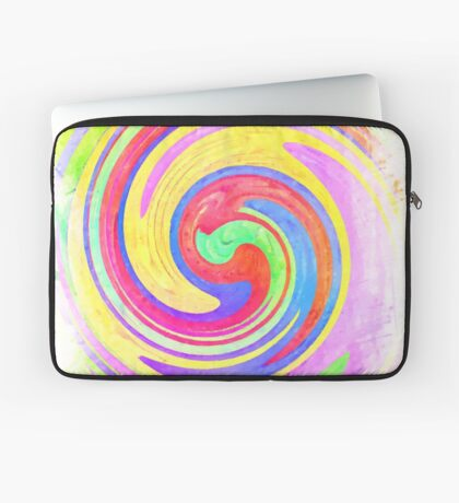A white bowl filled with lots of colorful flowers Laptop Sleeve