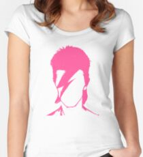 ROCK N ROLL STAR #pink Women's Fitted Scoop T-Shirt