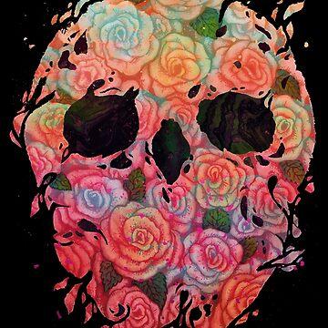 Skull Roses by Villainmazk